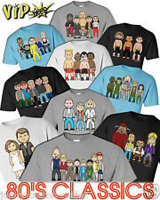 VIPwees Mens T-Shirt ORGANIC Cotton 80s Movie Inspired Caricatures Choose Design