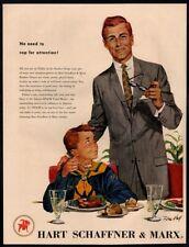 1957 HART SCHAFFNER & MARX Suits - TOM HALL Art - Cub Scouts VINTAGE AD