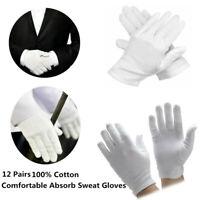 Mode Unisex Etikette Weiße Handschuhe Kellner//Fahrer//Schmuck//Arbeitnehmer