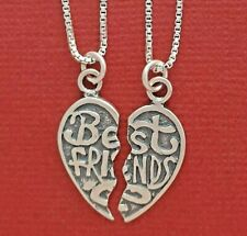 Sterling Silver Best Friends Necklaces incl solid 925 Chains and Pendants Share
