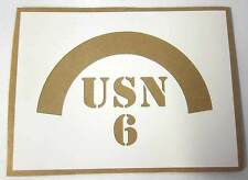 6th Naval Beach Battalion USA Helmet Stencil Decal Template NBB M1 WW2 WWII WK.2