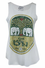 Rare Thai Chang Beer Summer Vest Ladies Tank TShirt Gym Party Beach Lounge Top