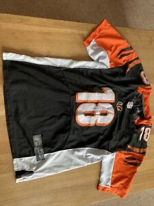 Cincinnati Bengals Shirt Jersey NFL American Football Green 18 Large Nike