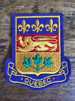 Vtg Quebec Embroidered Sew On Patch Canada Travel Souvenir Badge Crest Flag PQ