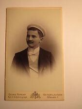 Kaiserslautern - 1901 - Leopold Kahn als Pennäler - Schüler / CDV / Studentika
