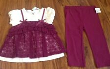 First Impressions Baby Girl Lace Top & Leggings~Sz 18M~Nice Spring Outfit