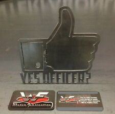 """Yes Officer? Hitch Cover - Facebook Like - 1/8"""" Steel - Tow Towing Reese Custom"""