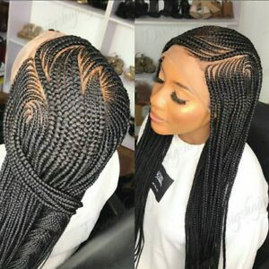 Braided Wig:custom handmade cornrows. Lace front wig.Location USA,
