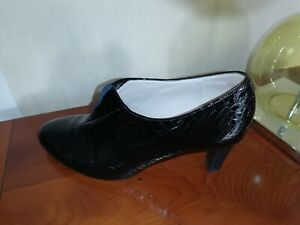 Peter Kaiser ladies black patent leather slim heel trouser shoes Size 6 UK/39