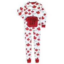 LAZY ONES CANADA EH? ADULT FLAP JACK MAPLE LEAF ONE PIECE LONG JOHNS PJ'S~L