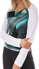 adidas Adizero Womens Running Top White Long Sleeve Slim Fit Crew Neck Jersey