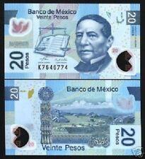MEXICO 20 PESOS P122 2006 BOOK PIGEON POLYMER *B* SERIES UNC MONEY LATINO NOTE