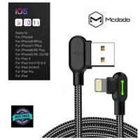 MCDODO LED rayo cargador de carga Cable de datos USB para iPhone 6 6s 7 8 Plus X