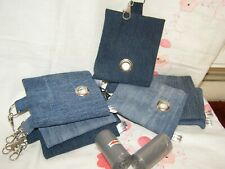 HANDMADE FABRIC DOG POO POOP BAG HOLDER DISPENSER DENIM