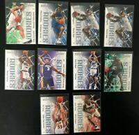 1999-00 SkyBox Impact (10) Card Rookie Lot Steve Francis Richard Hamilton + More