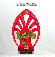 MOTORCYCLE TROPHY TOURING BIKE RED SHELL