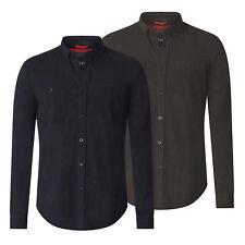 D555 para hombre Manga Larga Botones Camisa Jersey (Donnie)