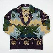 Keren Hart Ladies Small Cotton Shirt/Jacket/Coat Snow Flake Winter Snowflakes