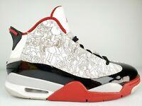 Nike Air Jordan Dub Zero Basketball Shoes White Red Black 311046-116 Men Size 9
