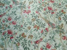 Sanderson Curtain Fabric ABBEVILLE 3.1m Rose/Calico Birds Floral Fabienne Coll