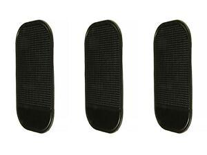 3pcs Anti-Slip Car Sticky Mat Non-Slip Pad GPS Phone Holder Black Auto