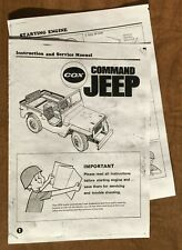 COX COMMAND JEEP .049 OWNERS INSTRUCTION and SERVICE MANUAL 049