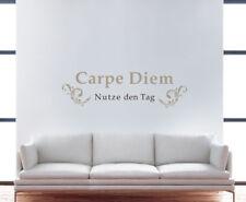 XL Wandtattoo CARPE DIEM Deko Set den Tag nutzen Aufkleber Sticker Tattoo NEU