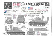 Star US M4, M4A1 Sherman Decals, Normandy Campaign 1/35 973