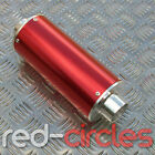 28mm RED BIG BORE PIT BIKE EXHAUST MUFFLER FOR 50cc 110cc 125cc 140cc PITBIKE