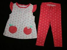 New Gymboree Peach Blossom 2 Piece Set Size 12-18m Spring Peach