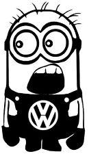 Stickers Carrosserie Minion Volkswagen VW Colorie Noir