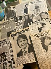 Michael J. Fox, Lot of TEN Full Page Vintage Clippings