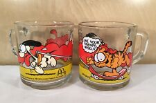 Garfield Odie McDonald's Glasses Mugs Vintage 1978 United Feature Syndicate