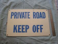 Vintage Private Road Sign