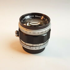 Canon LTM 50mm f1.4 for Leica M39 mount (with an adapter for Leica M mount)