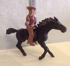figura plastico,lafredo,12cm,indios y vaqueros,vaquero a caballo,años 60's 70's