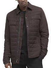 NEW Kenneth Cole Men's Quilted Nylon Maroon Shirt Jacket, NWT【S】【$130】 *LAST ONE
