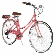 XDS Nadine Women's 7-speed Aluminum Dutch Bicycle - Pink Coral