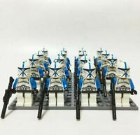 21 Pcs Minifigures 501st Clone Troopers Blue - Star War Army Trooper kids toy