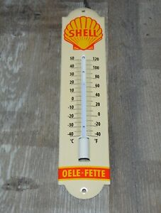 Shell - Oele Fette - Emailthermometer Thermometer Emaille - 30 x 6,5 cm