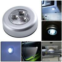 10pcs 3 LED Touch push on/off Lights self-stick on click battery operated lamp
