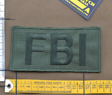 """Ricamata / Embroidered Patch """"FBI Big"""" OD with VELCRO® brand hook"""