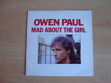 """Owen Paul: Mad About The Girl 7"""": 1987 UK Release: Picture Sleeve"""