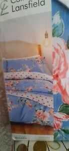 Catherine Lansfield blue floral 'Canterbury' double bed duvet set