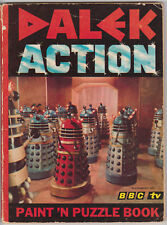 Giga-rare: Dalek Action Paint n Puzzle Book, 1966.  Doctor Who.