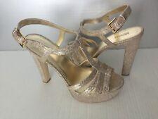 cbacebc99bf2 Michael Kors Catalina Gold Glitter Strappy T-Strap Open Toe Sandals 10