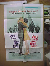 WHAT'S SO BAD ABOUT FEELING GOOD, orig 1-sht / movie poster (Mary Tyler Moore)