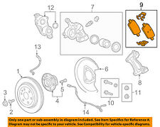 Chevrolet GM OEM 2016 Camaro Brake-Rear Pads 23344214