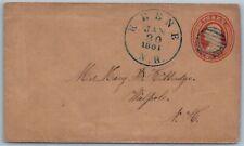 1861 US Cover - Keene, New Hampshire to Walpole, NH O10