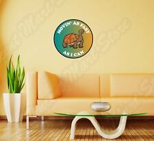 "Turtle Move As Fast As Can Slow Funny Wall Sticker Room Interior Decor 22""X22"""